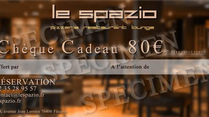 Chèque Cadeau Le Spazio à 80 €